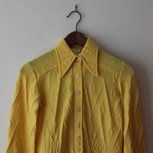 Vintage Yellow Blouse Medium